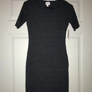 Lularoe Julia dress ribbed charcoal xxs